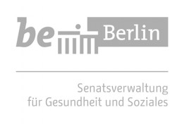 Logo Berlin Senate Department for Health and Social Affairs in grey