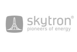 Skytron-Logo grau