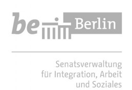 Logo Berlin Senate Department for Integration, Labour and Social Affairs in grey