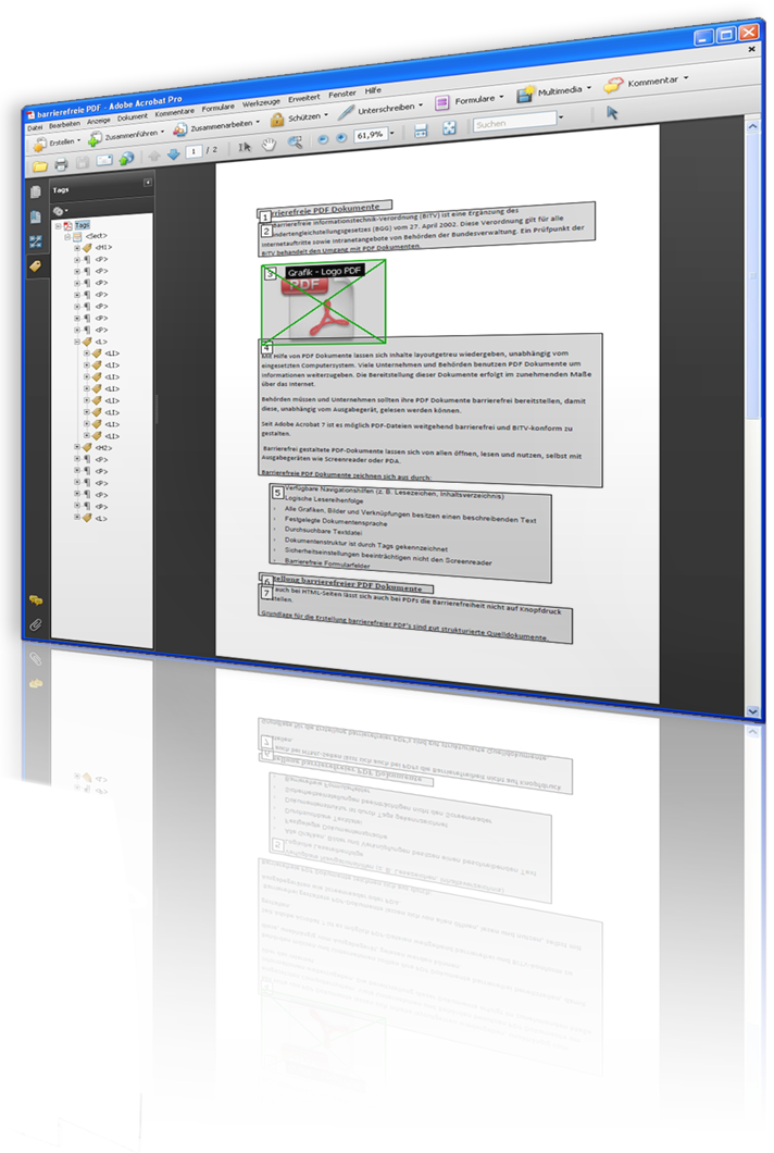 Screenshot eines PDF-Dokumentes