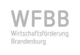 graues Logo der Wirtschaftsförderung Land Brandenburg GmbH (WFBB)