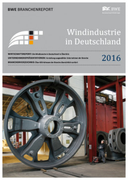 Cover Windindustrie in Deutschland 2016