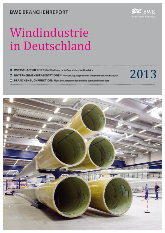 Windindustrie in Deutschland Broschüre deutsch 2013