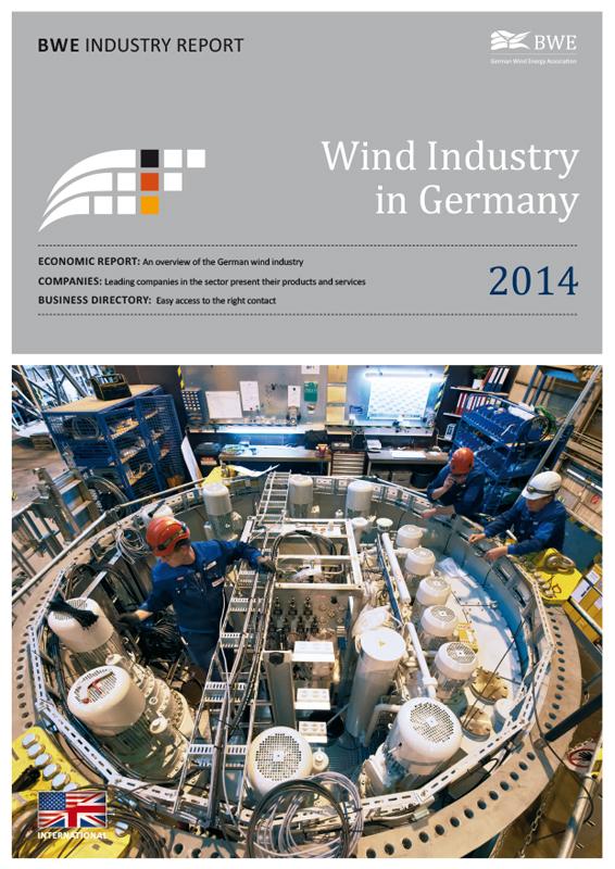 Windindustrie in Deutschland Broschüre englisch 2014