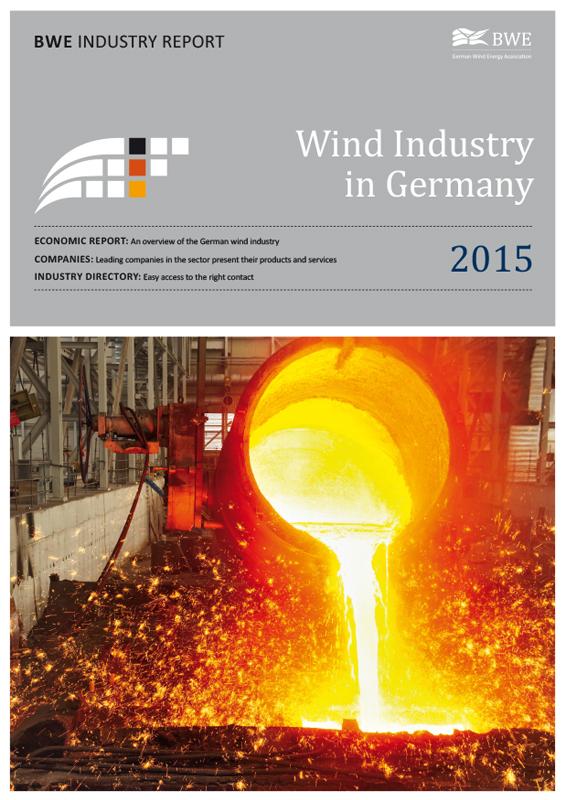 Windindustrie in Deutschland Broschüre englisch 2015
