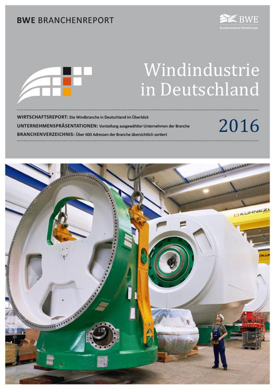 Windindustrie in Deutschland Broschüre deutsch 2016