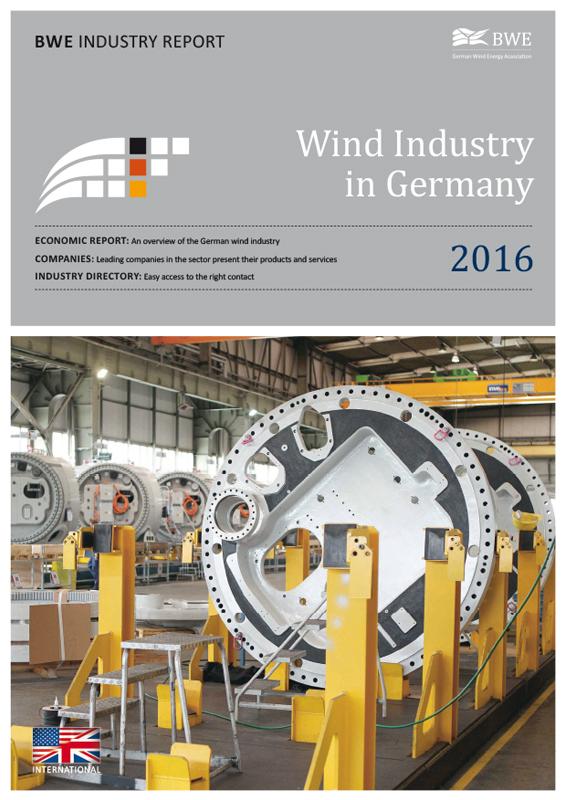 Windindustrie in Deutschland Broschüre englisch 2016