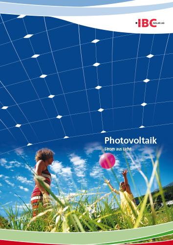 Cover IBC Solar Photovoltaik
