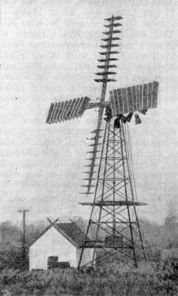 Windrad im dänischen Vallekilde (um 1905)