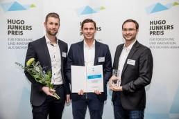 Hugo-Junkers-Preis mit Tjorven Graßnick , Simon Schandert und Daniel Hannemann