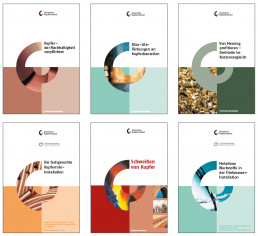 Various covers of the German Copper institute in corporate design created by Sunbeam