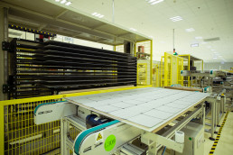solar modules are being assembled