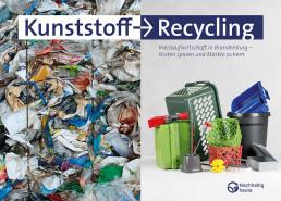Plastiukmüll links zu Plastikprodukten rechts