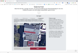 Screenshot Solarrechner 4